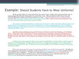 argumentative essay on wearing school uniforms