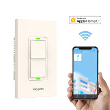 Apple Homekit Wifi Light Switch Smart Light Switch Koogeek Wifi Wall Switch For Apple Homekit With Siri Remote Light Control Switch On 2 4ghz Network For Ios Beige Two Gang