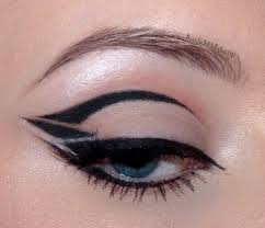get an eye liner brush and create this unique eye makeup instead of being extra cautious while drawing the end flick here carry an easy flow you just need