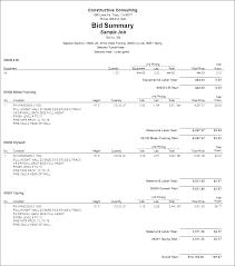 Bid Proposal Template Printable Blank Bid Proposal Forms