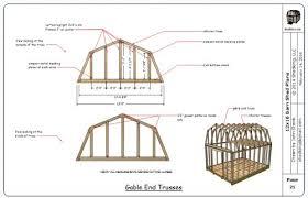 Gambrel Style Wood Barn Kit  Post And Beam Barn Kit  Barn Gambrel Roof Plans