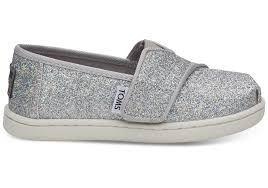 Toms Tiny Shoe Size Chart Silver Iridescent Glimmer Tiny Toms Classics