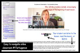 help your child improve writing skills fortuigence  screenshot of fortuigence online classroom