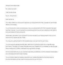 Generic Termination Letter Business Contract Cancellation