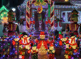 Christmas outdoor decorations - Snowman and nutcracker lights up house Stock Photo 44887262 Outdoor Decorations And Nutcracker