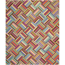 safavieh straw patch pink multi 9 ft x 12 ft area rug