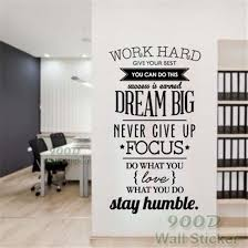 ... Inspiration Wall Art Dream Big Never Give Up Inspiration Quote Wall  Stickers Diy Home Decoration Wall ...