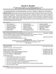Plumber Resume Example