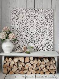indian wood carving wall art panel