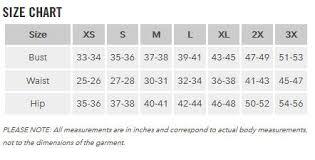 Exofficio Size Chart Body Measurement Women Online Charts Collection