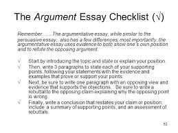 proposal argument essay checklist sample proposal argument excelsior college owl