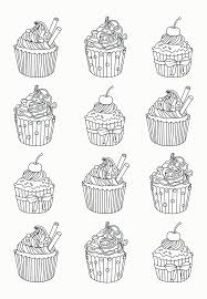 Small Picture Free Coloring Pages Cupcakes Coloring Home