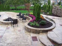 stained concrete patio. Brilliant Patio Stamped Stained Concrete Patio In D