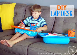make this simple diy lap desk for your child so they can sit and do their homework almost anywhere