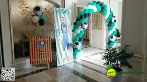 a football theme birthday party for a