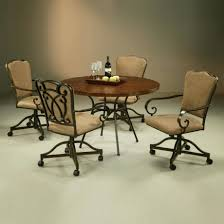 swivel dining chairs with casters. Full Size Of Uncategorized:kitchen Chairs With Casters Within Glorious Dining Room Table Sets Swivel T