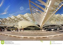 Modern Train Station Design Modern Architecture Design Train Station Lisbon Editorial