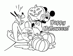 Halloween Mickey Mouse Pluto Coloring Pages