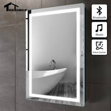 Illuminated wall mirrors for bathroom Commercial Bathroom Uk Shipping 50x70cm 90240v Bluetooth Illuminated Wall Mirrors For Bathroom Led Frame Bath Mirror Wall 9usd Discount For Uk Kmlawcorpcom Uk Shipping 50x70cm 90 240v Bluetooth Illuminated Wall Mirrors For