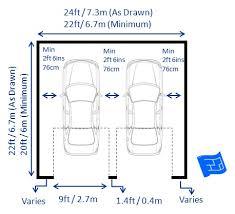 Standard 2 Car Garage Door SizeSize Of A 2 Car Garage
