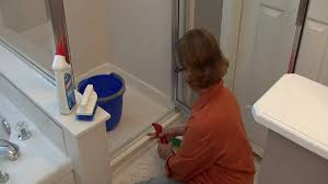 Bathroom Cleaning Tips : How to Clean Shower Door Tracks - YouTube