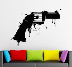 Small Picture Vinyl Wall Decals Gun Firearm Weapon Art Design Wall Mural Sticker