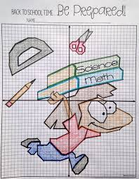 Back to School Plotting Points - Mystery Picture   Worksheets ...