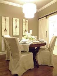 dining room slip covered chairs i would love to find some of these for