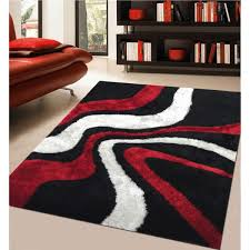 impressive designs red black. Impressive Rug Addiction Hand Tufted Polyester Red And Black Shag Area With Regard To Rugs Attractive Designs
