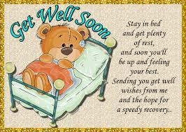 Get Well Card Get Well Soon Teddy Bear Free Get Well Soon Ecards