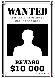 word for black and white 29 free wanted poster templates fbi and old west
