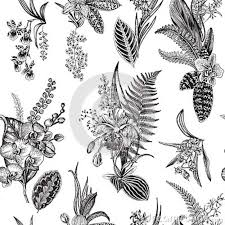 Vector Seamless Vintage Floral Pattern Stock Vector Illustration