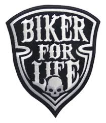 For Life Large Patch Aufnahr Biker For Life Sogno Americano