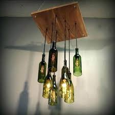 glass bottle chandelier diy glass bottle chandelier
