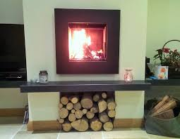Suspended Granite shelf / Hearth, for a wall mounted log burner. From 100