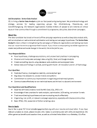 Data Analyst Resume Summary Interesting Data Analyst Job Description Resume Complete Guide Example