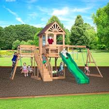 product title backyard discovery montpelier cedar wooden swing set ii the 8 best sets and to