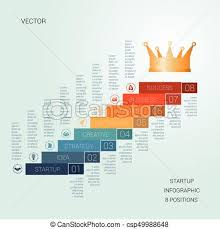 Startup Timeline Template Vector Template Startup Success For Eight Positions
