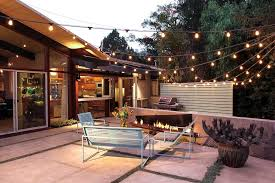 outdoor terrace lighting. Santa Barbara Rustic Outdoor Lighting With Modern Fire Pits Patio Midcentury And Potted Plants Exterior Terrace U