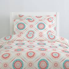 coral and teal modern medallion duvet cover medallion duvet cover49