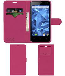Lava Iris 460 Flip Cover by ACM - Pink ...