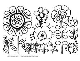 Small Picture Easy Coloring Pages Of Flowers Coloring Coloring Pages