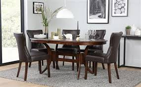 dark dining room furniture. fine furniture townhouse oval dark wood extending dining table and 6 chairs set bewley  brown and room furniture o