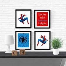 spiderman wall art spiderman canvas