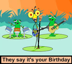 E Birthday Card Card Design Ideas Grasshopper Band Frog Holding Guitar Bass Drum