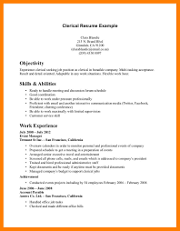 9+ clerical skills resume