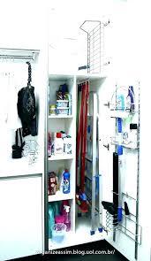 shallow broom closet utility storage cabinet ideas room or diy