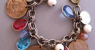 <b>Vintage Charm Bracelet</b> Coins Crystals South Africa Coins | Монеты ...