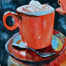 hot chocolate painting. Interesting Painting Hot Cocoa Painting  Yum By Beverley Harper Tinsley On Chocolate C