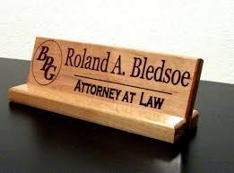 Image result for name plate for desk wood